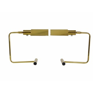 Cantilevered Brass Desk Lamps by Koch & Lowy - Pair