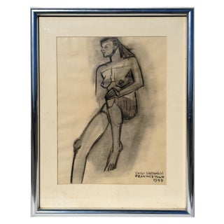 1949 Nude Drawing by Emily Farnham
