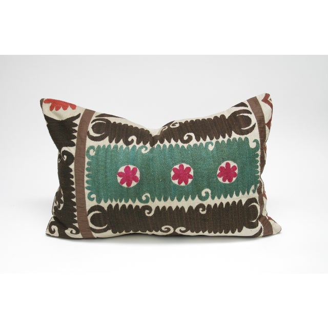 Vintage Suzani Verde Pillow - Image 3 of 3