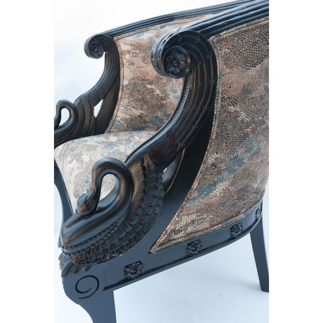 Image of Maitland Smith Vintage Swan Chairs - A Pair