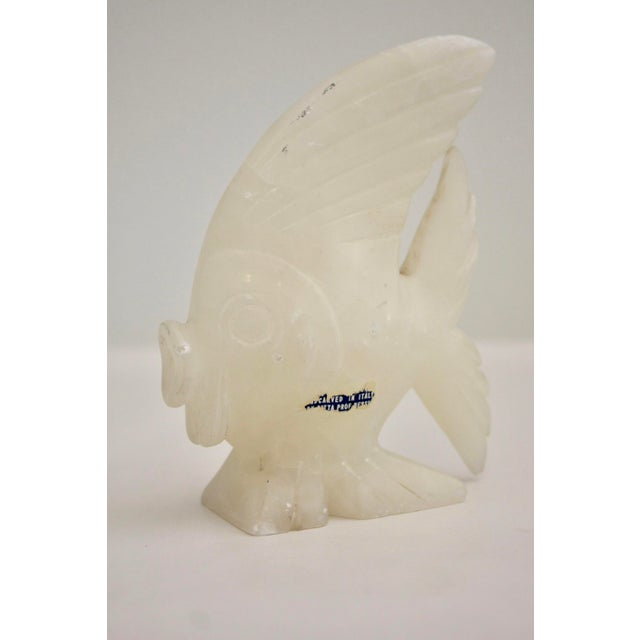 Carved Italian Marble Fish Sculpture - Image 5 of 6