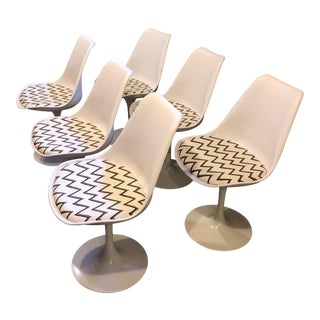 Molly Skok Zig Zag Seat Saarinen Chairs - Set of 6