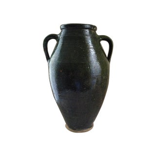 Turkish Green Pottery Vase