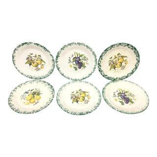Italian Tre Ci Fruit Plates - Set of 6