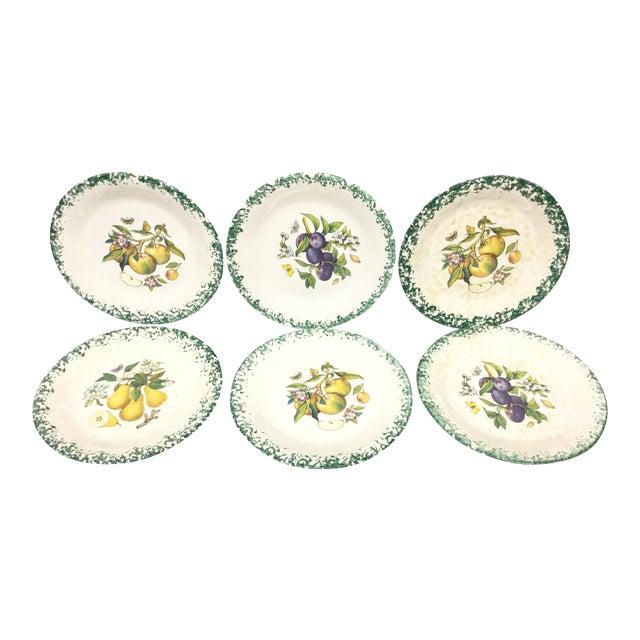Italian Tre Ci Fruit Plates - Set of 6 - Image 1 of 11