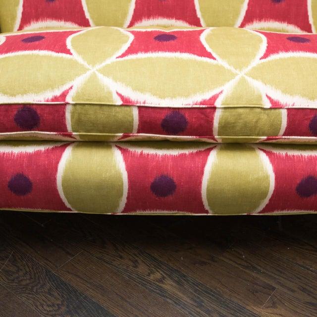 Custom Upholstered Down-Filled Loveseat - Image 4 of 9