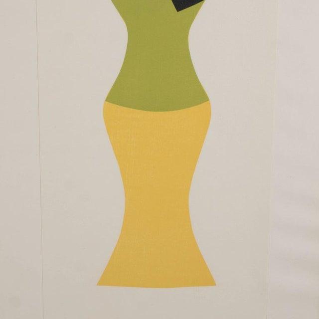 Mid-Century Modernist Woodcut by Hans Arp Poupee Sans Tete, 1964 - Image 4 of 8