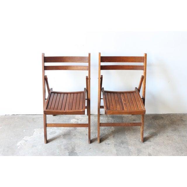 Walnut Folding Chair - Image 3 of 4