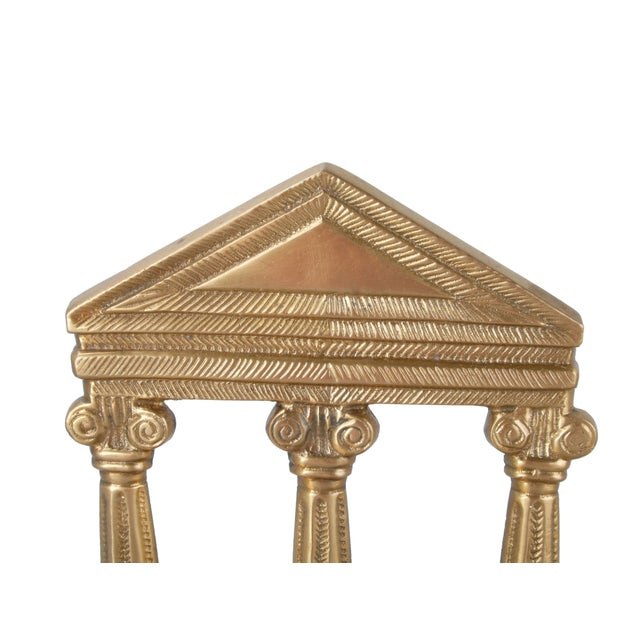 Image of Bronze Greek Temple Style Bookends - A Pair