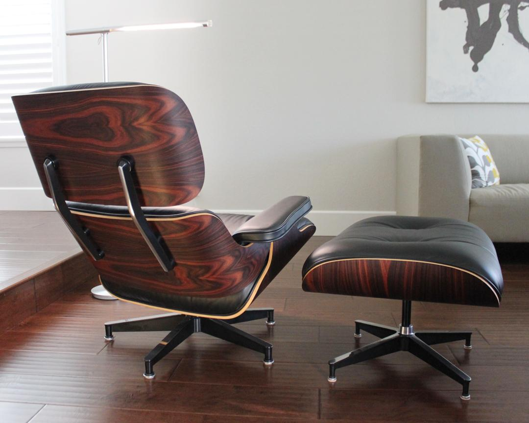 herman miller eames lounge chair u0026 ottoman with oiled palisander image 4 of 11