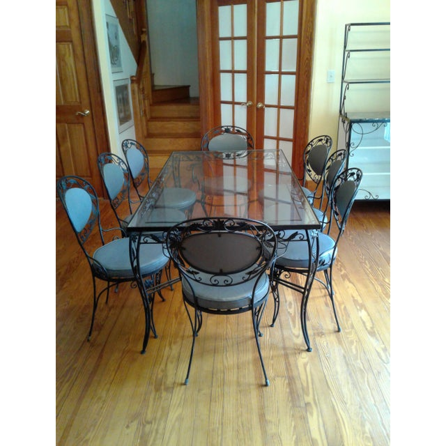 Wrought Iron Dining Room Sets: Wrought Iron And Glass Dining Room Set