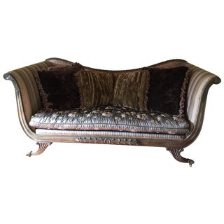 Vintage French Country Couch & Pillows