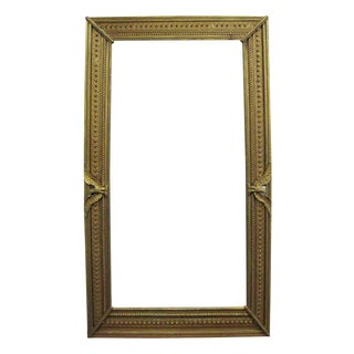 Large Gold Color Wooden Frame with Eagles