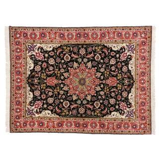 "Vintage Persian Tabriz Rug - 4'10"" x 6'4"""