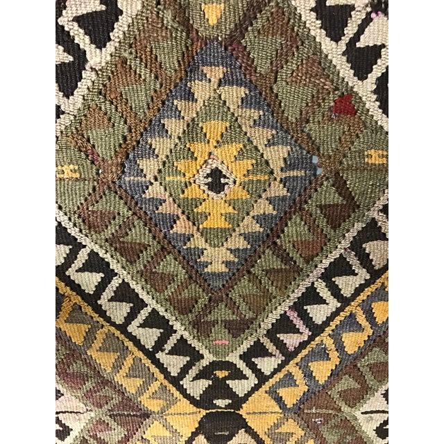 Vintage Anatolian Kars Kilim Rug - 4′8″ × 14′8″ - Image 6 of 8