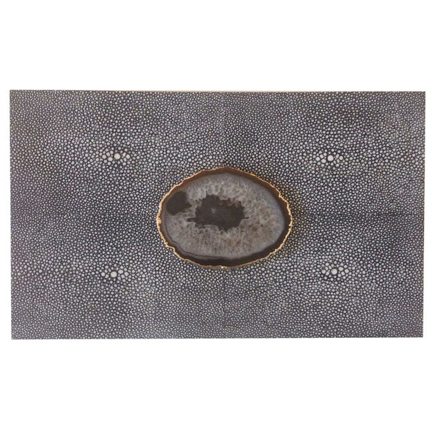 Image of Dark Gray Shagreen Box