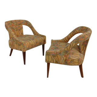 Adrian Pearsall Style Mid-Century Modern Barrel Back Lounge Chairs