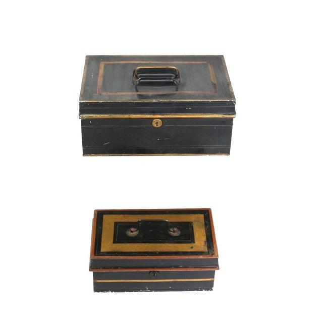 1920s English Metal Cash Boxes - Set of 3 - Image 5 of 6