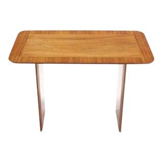 Widdicomb Banded Mid Century Modern Side Table Tapered Walnut Leg