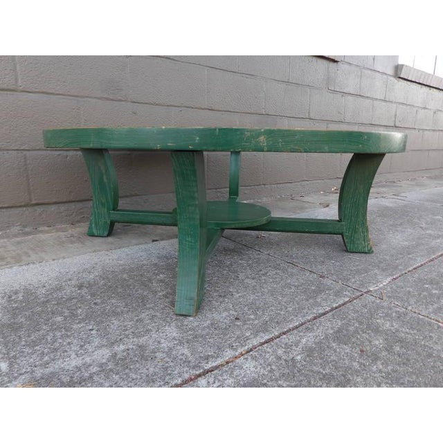 Paul Frankl Green Cerused Coffee Table - Image 3 of 6