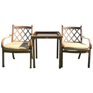 Vintage used patio and garden furniture chairish for Outdoor furniture 77386