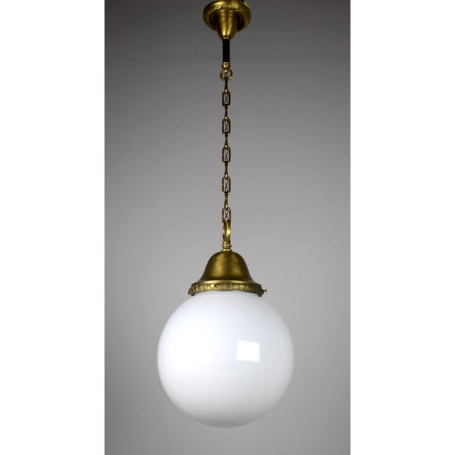 Pendant Fixture with Ball Shade - Image 4 of 6