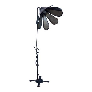 Torch Cut Brutalist Flower Floor Lamp