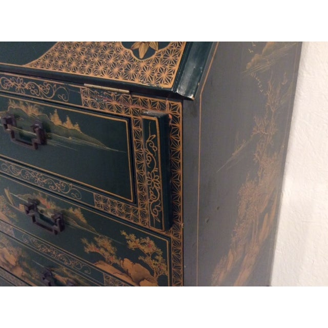 Vintage Chinoiserie Chippendale Secretary - Image 6 of 11