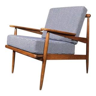 1950s American Modern Walnut Lounge Chair, Eleanor Pritchard Cover