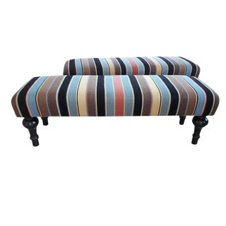 Cottage Striped Window Bench