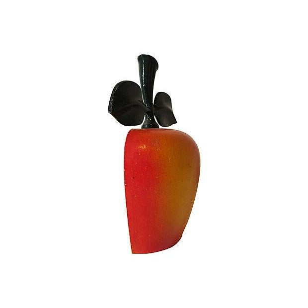 Hand Painted Cast Iron Apple Doorstop Chairish