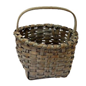 Antique American Primitive Splint Basket