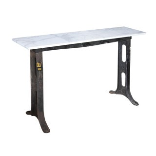 Industrial Marble & Iron Console