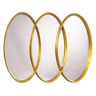 Gold Three Ring Mirror