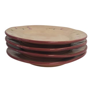 Noemi Ceramiche Handcrafted in Umbria Italy Salad Plates S/4