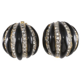Kenneth Jay Lane Enameled Melon Earrings