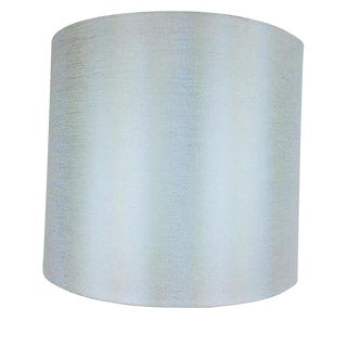 White Metallic Linen Lamp Shade