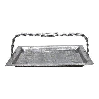 Hammered Aluminum Tray
