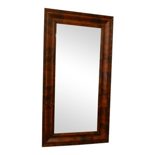 1850s Empire Mahogony Frame Mirror