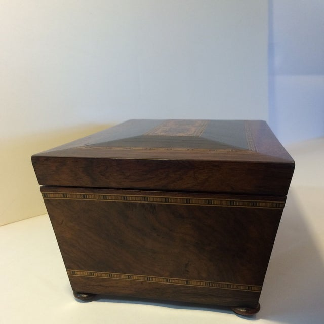 Brazilian Rosewood Double Tea Caddy - Image 2 of 7