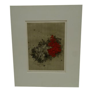 """Red Flowers"" Signed Print"
