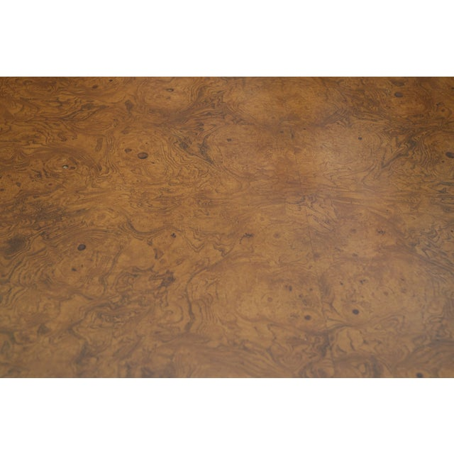 Burl Wood Fliptop Expandable Dining Table - Image 4 of 9