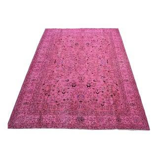 Pink Oushak Overdyed Rug - 7′ × 10′4″