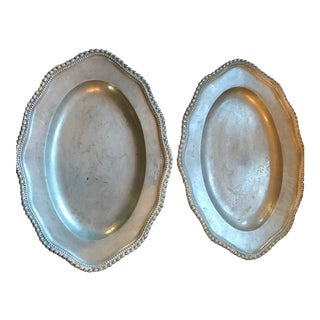 Pair of Dutch Pewter Plates
