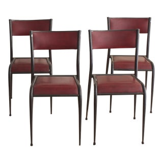 Restored Mullca 510 Schoolhouse Chairs - Set of 4