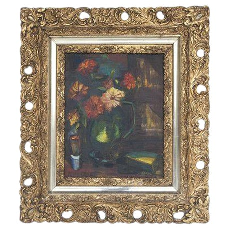 Image of Vintage Floral Painting