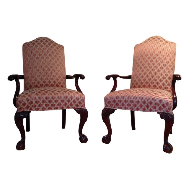 Image of French Provencal Style Arm Chair - Pair