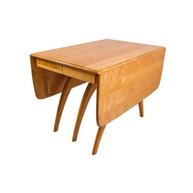 Heywood wakefield wishbone table 6 chairs set chairish for Wishbone chair table