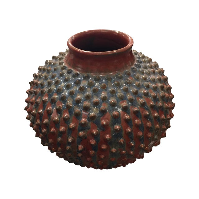 Stella Gray Red & Blue Spiked Vase - Image 1 of 6
