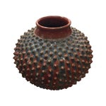 Image of Stella Gray Red & Blue Spiked Vase